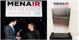 "Coface Emirates Services awarded ""Trade Credit Management Solutions Provider 2016"" by MENA Insurance Review in Dubai"